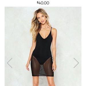 Nasty Gal Mesh Bodycon Dress